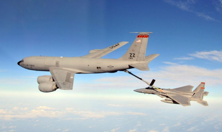 KC-135 Refueling an F-15
